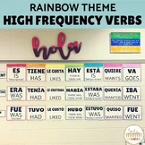 Spanish High Frequency Verb Posters Rainbow Theme