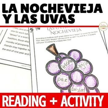 Spanish Holidays Reading Activity La Nochevieja y Las Uvas