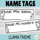Spanish Name Tags Llama Theme