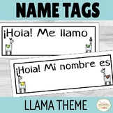 Spanish Name Tags Llama Theme
