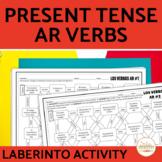 Spanish Present Tense AR VERBS Maze Practice Activity with DIGITAL Option