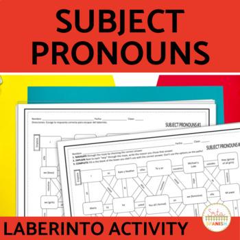Spanish Subject Pronouns Laberinto Practice Activity