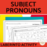 Spanish Subject Pronouns Maze Worksheet Practice Activity