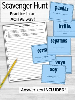 Subjunctive vs Indicative ¡Corre en Círculos! Activity
