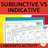 Subjunctive vs Indicative Spanish Maze Practice Activity with DIGITAL Option