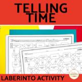 Telling Time Spanish Laberinto Practice Activity
