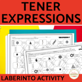 Tener Expressions Present Tense Spanish Maze Practice Activity with DIGITAL