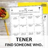 Tener Present Tense Speaking Activity