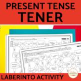 Tener Present Tense Spanish Maze Practice Activity with DIGITAL Option