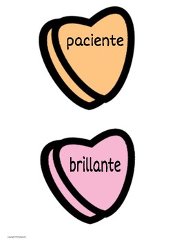 "Valentine's Day Spanish Classroom Display ""Tú eres.."""