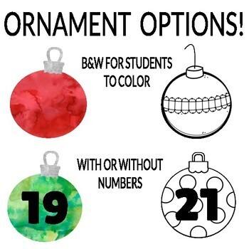 Countdown to Winter Break Classroom Display