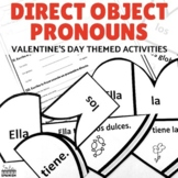 Direct Object Pronouns Spanish Valentine's Puzzle and Practice