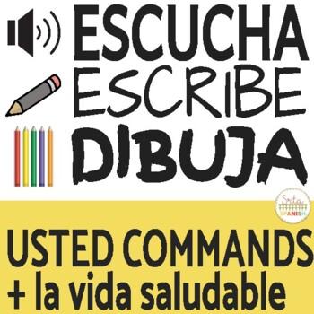 USTED commands Escucha, Escribe, Dibuja Activity