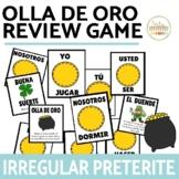Irregular Preterite Verbs Review Game Olla de Oro