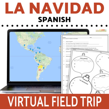 Navidad Digital Activities for Google Maps SPANISH ONLY