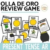 Present Tense AR Verbs Review Game Olla de Oro