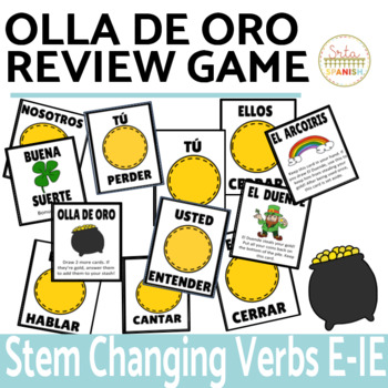 Present Tense Stem Changing Verbs Review Game Olla de Oro