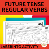 Spanish Future Tense Regular Verbs Maze Practice Activity with DIGITAL Option