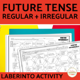 Spanish Future Tense Regular and Irregular Verbs Maze Practice Activity