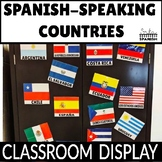 Spanish Speaking Countries Flags Display and Activity Sheets