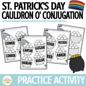 St. Patrick's Day Present Tense Conjugation Practice Activity