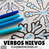 Verbos Nievos Conjugation Review and Winter Classroom Display