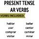 Review Game Pack for Present Tense Regular AR Verbs