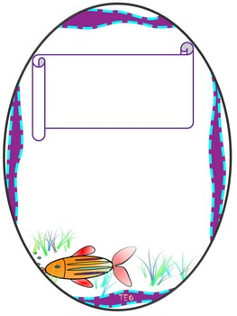 Fish - Frames - Writing paper - Personal or commercial use