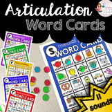 Articulation Word Cards for Speech Therapy - 11 sounds!