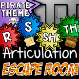 Escape Room for Articulation - Speech Therapy /r/ /s/ /sh/ /th/