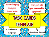 TASK CARDS CLIPART: BRIGHT AND COLORFUL TASK CARDS TEMPLAT