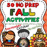 50 Fall Halloween Thanksgiving Activities