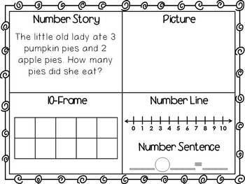 50 Fall Word Problems or Number Stories