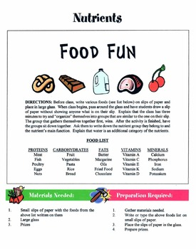 50 Family & Individual Health Games & Activities Packet