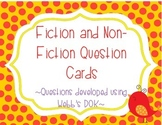 50 Fiction and Non-Fiction Question Cards - Based on Webb's DOK