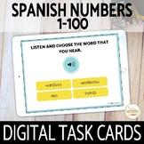 1-100 Spanish Numbers DIGITAL Task Cards Boom Cards