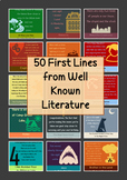 50 First Lines of Well Known Novels