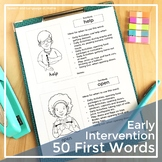 Speech Therapy Parent Handouts for Early Intervention and Toddlers   First Words