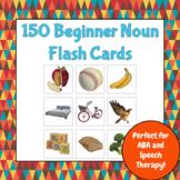 150 Beginner Noun Flash Cards (ABA, Autism, Speech Therapy)