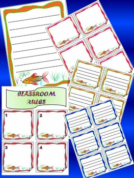 Fish Themed - Alphabet - Numbers - Frames - Labels - Back to School Activities