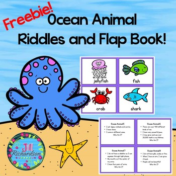 Ocean Animal Riddles and Interactive Printables!  (Freebie)