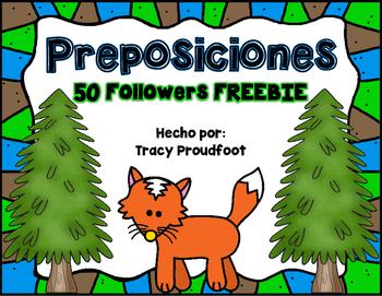 50 Followers FREEBIE - Preposition Posters