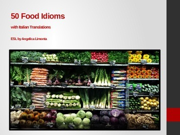 50 Food Idioms with Italian Translations