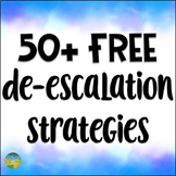 50+ Free De-escalation Strategies