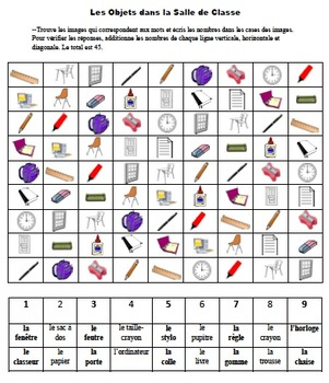 50 French Vocabulary and Verb Form Activities; Based on Sudoku