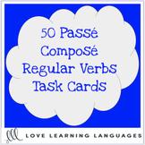 50 French passé composé task cards - Regular verbs