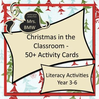 50+ Fun Christmas Activity Cards for Literacy Centres and Art & Craft