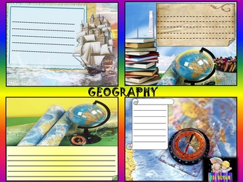 Maps - Labels - Geography - Writing paper