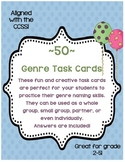 50 Genre Naming Task/Flash Cards w/ Answers. By self, small group, or partners.