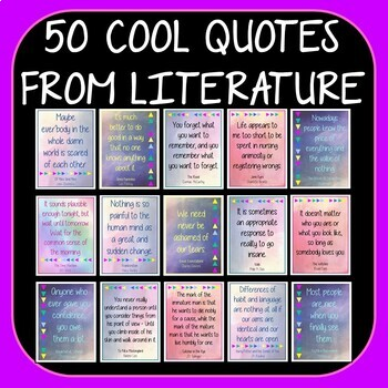 50 Great Quotes from Literature - Display Posters Secondary English Classrooms